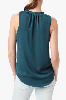 7 For All Mankind Pleated Collar Tank In Seaport
