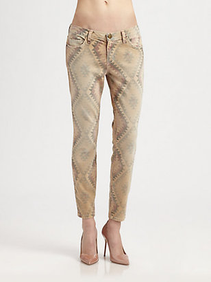 Current/Elliott The Stiletto Printed Jeans