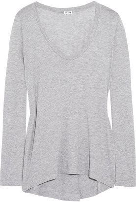 Splendid Cotton and modal-blend jersey top