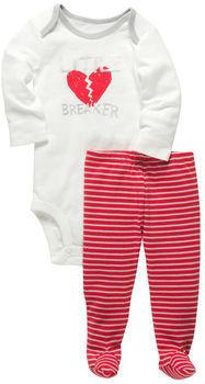 Osh Kosh 2-Piece Valentine's Bodysuit Set
