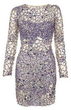 Jovani Blue Sequin Dress