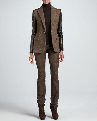 Ralph Lauren Black Label Matchstick Slim Jeans, Sake Brown