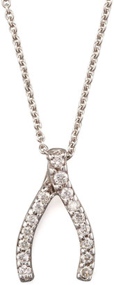 Roberto Coin Pave Wishbone Necklace