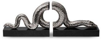 L'OBJET Snakes Platinum Bookends/Set of 2