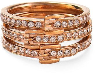 Michael Kors Pave Buckle Ring Set