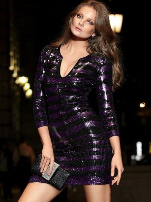 Victoria's Secret Sequin V-neck Dress