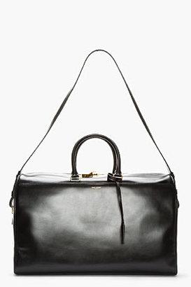 Saint Laurent Black Leather Bo Duffle Bag