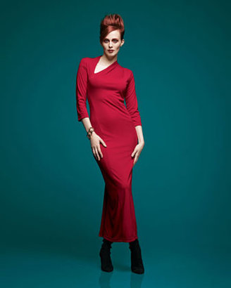 Melissa Masse Millennium Asymmetric Long Dress