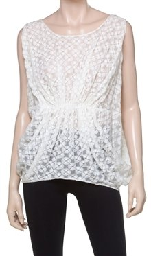 Max Studio Embroidered Lace Blouse