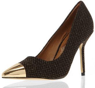 Dorothy Perkins Gold metal toe cap courts