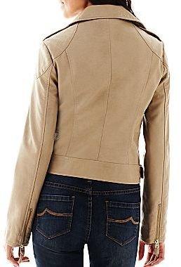 Coffee Shop Faux Leather Moto Jacket