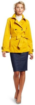 Isaac Mizrahi Jeans Women's Bella Short Trench Coat