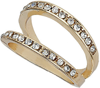 Topshop Split Double Band Rhinestone Ring