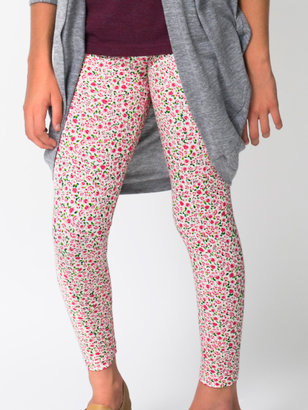 American Apparel Youth Floral Printed Cotton Spandex Jersey Legging