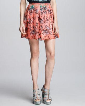 Nanette Lepore Candy Raver Digital-Print Skirt