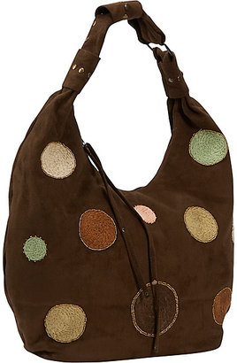 Global Elements Felt Bag w/ Polka Dots