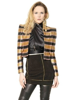 Balmain Lurex Jacquard Jacket