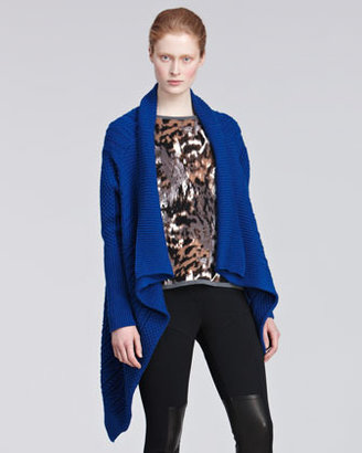 Yigal Azrouel Oversized Cable-Knit Cardigan