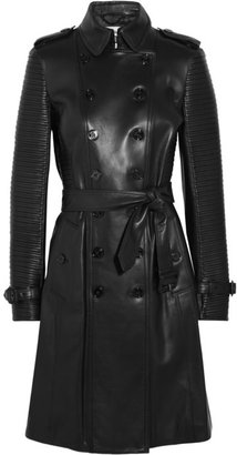 Burberry Ribbed leather trench coat