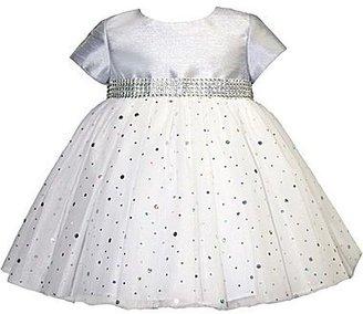 JCPenney Marmellata Silver Ballerina Dress - Girls 3m-9m