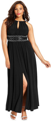R&M Richards Plus Size Sleeveless Beaded Gown $119 thestylecure.com