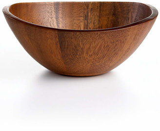 The Cellar Acacia Wood Curve Individual Bowl, Created for Macy's