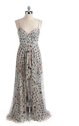 Nicole Miller Leopard Print Hi-Lo Gown