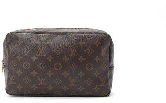 Louis Vuitton Pre-Owned: brown monogram canvas 'Trousse de Toilette 28' pouch