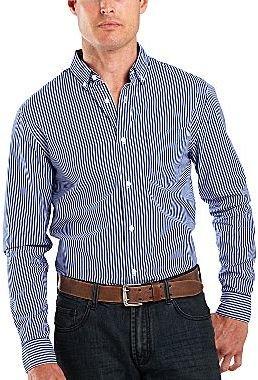 JCPenney jcpTM Long-Sleeve Striped Poplin Shirt