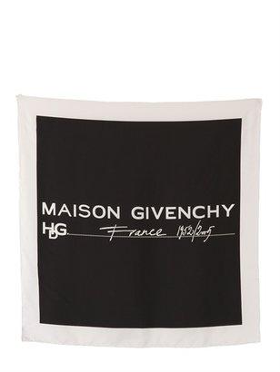 Givenchy Maison Printed Silk Twill Scarf