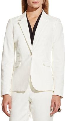 Vince Camuto Stretch Cotton One-Button Blazer