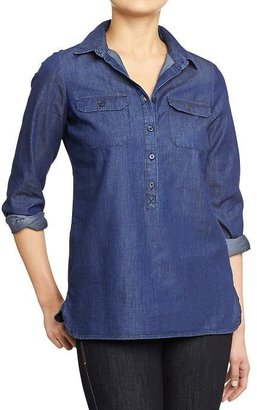 Old Navy Women's Button-Front Chambray Shirts