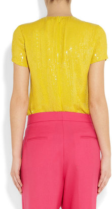 Diane von Furstenberg Catalina sequined silk top