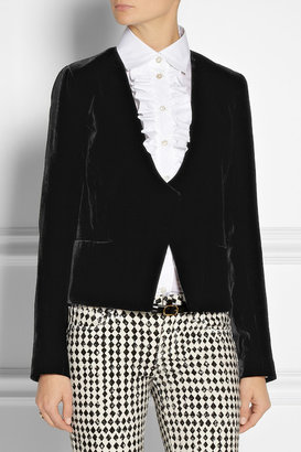 Diane von Furstenberg Feriha velvet blazer