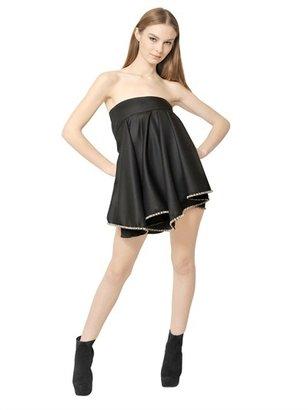 Jay Ahr Strapless Wool Faille Dress