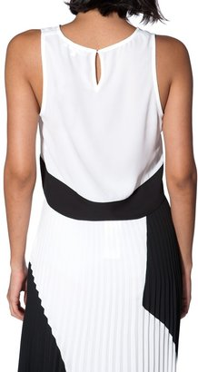 CHARLES HENRY Color Block Crop Top