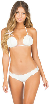 Lolli Swimwear - Scallop Bottom In Pearl $79 thestylecure.com