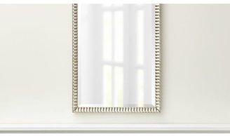 Silver Ripple Rectangular Wall Mirror