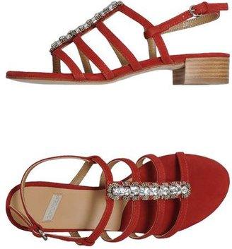 Coral Blue High-heeled sandals