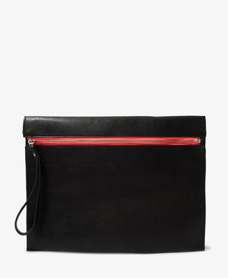 Forever 21 Chic Oversized Faux Leather Wristlet