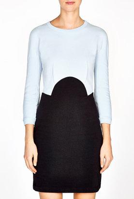 Carven 2 Tone Jersey Dress