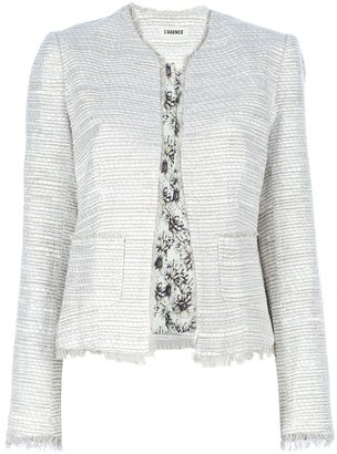 L'Agence collarless fitted jacket