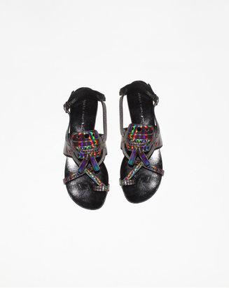 Proenza Schouler hologram tassle sandal