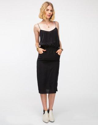 Topshop Silk Midi Pocket Dress