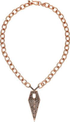 Rebecca Minkoff Blades Pave Single Link Necklace