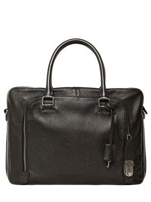 Dolce & Gabbana Deer Print Leather Briefcase Touck