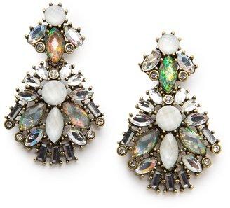 MANGO Holographic crystal earrings