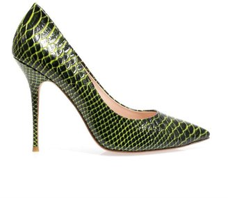 Lucy Choi London Hampstead embossed leather pumps
