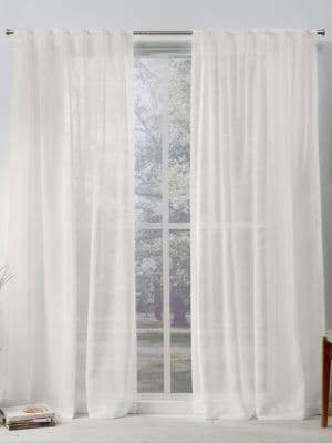 Home Outfitters Belgian Sheer Hidden Tab Top Window Curtain Panel