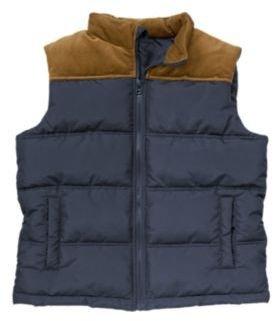Crazy 8 Corduroy Pieced Puffer Vest